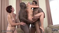 Black men Fuck White Women Deepthroat Swallow C...