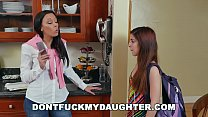 DON'T FUCK MY DAUGHTER - Step Mom Rachel Starr Giving Teen Sally Squirt Hard Time About Her Grades