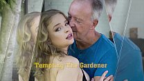 Teen blowjob and hot deep pussy fucking with grumpy grandpa