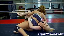 Busty wrestling babe assfingering cute lezzie thumbnail