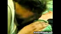 Sassy Arab girlfriend sucks dick and gets cream... thumb