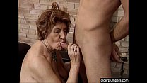 Granny seducing horny guy. preview image