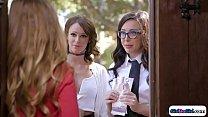 Lesbian Recruiters Licking Straight Girl