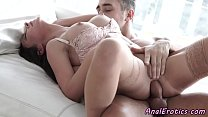 Glam beauty ass banged after slow foreplay