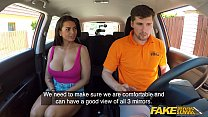 Fake Driving School Chloe Lamour gets her big tits out video