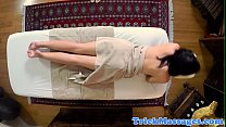 Amateur babe pussy pounded by her masseur