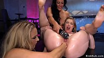 Hottie spanks and anal fists lesbians