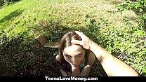 TeensLoveMoney - Busty Molly Jane Fucks Outside for Cash Vorschaubild