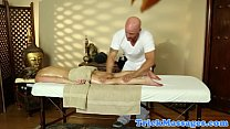 Amateur blonde massage fun on spy cam