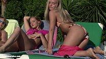 Sunbaked Orgy lesbian group with Liz Sharon Pau...
