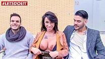 LETSDOEIT - Dirty Pornstar Pick Up Random Guys To Fuck thumbnail