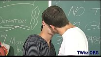 Lusty homosexual lads fuck in classroom