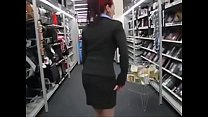 Business Girl Bursting To Pee, She Ends Up Wetting Herself