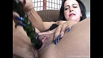 Naughty old spunker loves to fuck her soaking wet pussy thumbnail