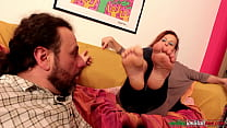 Amanda VS Ale Part 2 - Female Foot Domination