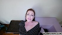 Son cums on his slutty mom's face