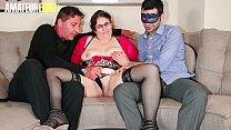 AMATEUR EURO - Mature BBW Italian Moana Gets Pleased And Fucked In Threesome