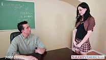 Sexy schoolgirl Jenna J Ross take cock in classroom Thumbnail