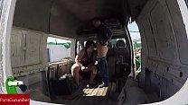 Blowjob in the abandoned van