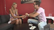 gangbangsexvideos - he fucks brothers girlfriend blonde from behind thumbnail