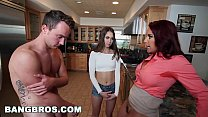 Horny Stepmom Janet Mason frames the stepdaught... Thumbnail