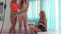 www.PornLax.com - Lesbian threesome Cute Girl Fucked Happening Thumbnail