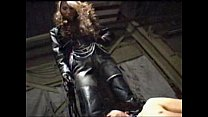 asian femdom full leather pants and jacket tram... Thumbnail