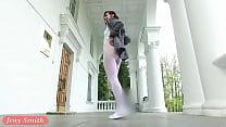 Jeny Smith - Sporty Look White pantyhose flashing tumblr xxx video