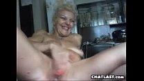 Image: Mature Blonde Whore Masturbates