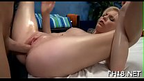 Girl next door facialed by her massagist