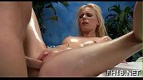 Girl next door facialed by her massagist