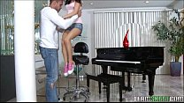 Tiny Teen Piano Player Plays A Huge Cock's Thumb