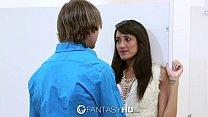 FantasyHD - Chloe Amour has sex with a stranger in a public bathroom video
