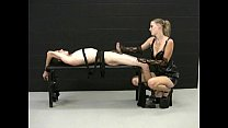 Blonde mistress jerks off her tied up slave and demands for more cum ◦ Himiko Hentai thumbnail