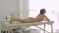 Julie shows her pussy to masseuse thumbnail