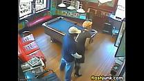 stranger caught having sex on CCTV thumbnail