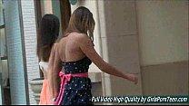 Mary and Aubrey I lesbians petite public tits flashing pussy صورة