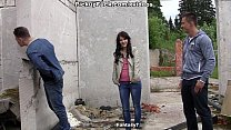 Adventurous girl goes for real  wild outdoor se...