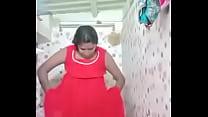 Swathi naidu wearing dress after bath part-2