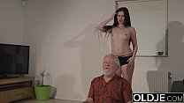 8236 Teen mouth fucked hardcore takes cock deepthroat in old young pussy fuck preview