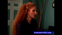 Extreme hairy redhead pussy hot