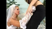 Naughty lesbians Sandra Shine and Zsanett Egerhazi bump and suck twats Image