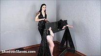 Merciless brazilian bdsm and lesbian whipping of 19yo amateur slave girl Demi in صورة