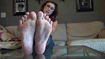 Feet tease on couch