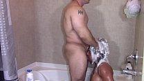 Alexis Rain Sucking Tony Dinozzo off in the shower (Blowjob)