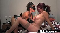 The fat BBW and the insatiable milf in cum kiss porn thumbnail