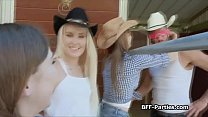 Cowgirls spinning on farmers throbbing cock Preview