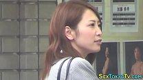 Japanese babe solo rubs Thumbnail