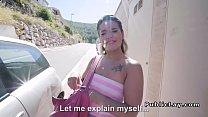 Lina babe pounds big cock outdoor - 9Club.Top