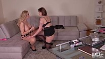 Sexxxretary Marie Clarence Pleases Her Boss Kayla Green With a Butt Plug thumbnail